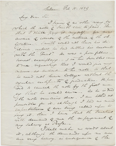 Samuel M. Worcester letter to Edward Dickinson, 1839 February 15