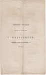 Amherst College Commencement program, 1840 August 26