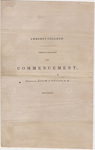 Amherst College Commencement program, 1839 August 28