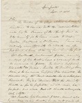 William Barron Calhoun letter to David Mack, Jr., September 18