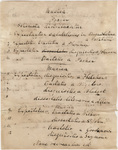 Handwritten Commencement program in Latin, 1838