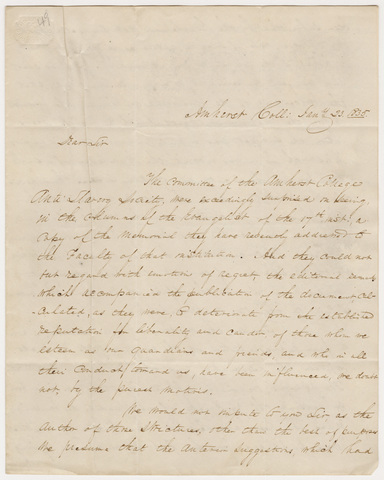 William George Howard, Joseph Haven, Jr., and Leander Thompson letter to the editor of the Evangelist, 1835 January 23