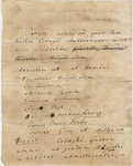 Document regarding the conferral of master's and honorary degrees, 1837
