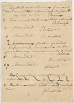 Draft of student appointments in Latin, 1823-1827