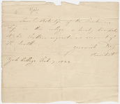 Jeremiah Day certification of Samuel Patridge's dismissal from Yale College, 1825 February