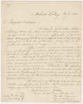 William George Howard, David Andrews, and Edward Corrie Pritchett letter to the faculty, 1835 January