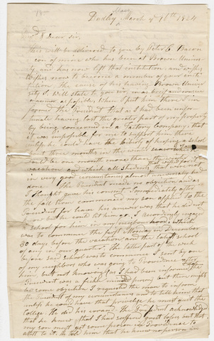 Jepthah Bacon letter to Heman Humphrey, 1824 March 16
