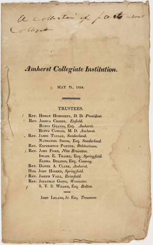 Pamphlet of information regarding the Amherst Collegiate Institution, 1824 May 31