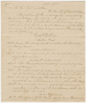Student petition for a band and proposed constitution, 1836 March