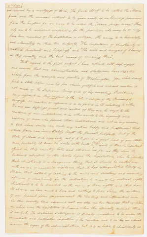 Judah Ely letter to the students of the Collegiate Institution, 1824 March 1
