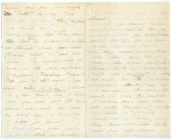 Emily Dickinson letter to Master