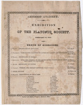 Order of excercises at the exhibition of the Platonic Society, 19 February 1827