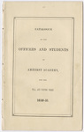 Amherst Academy catalog, 1850/1851 fall and winter terms