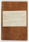 Amherst College financial subscription notebook, 1822 January 28