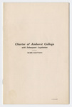Charter of Amherst College: with subsequent legislation : 1935 edition