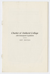 Charter of Amherst College: with subsequent legislation : 1957 edition