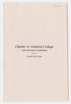 Charter of Amherst College: with subsequent legislation : 1945 edition