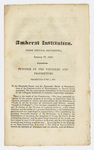 Amherst Institution: from official documents : January 17, 1825 : Petition of the founders and proprietors, presented June 5, 1823