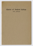 Charter of Amherst College: with subsequent legislation : 1930 edition