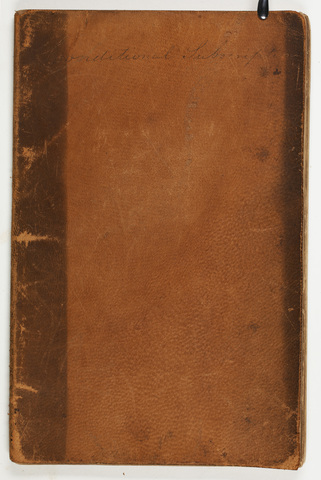 Amherst College financial subscription notebook, 1839-1841