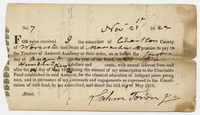 Salem Towne promissory note for Charity Fund subscription, 1822 November 21