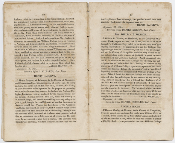 statement of the affairs of the Amherst Institution, on the fourth of October, 1824