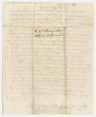 Hezekiah Wright Strong letter to unidentified recipient, 1839 October 30