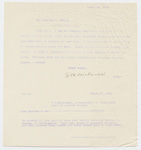 Copy of Joseph Whitcomb Fairbanks letter to Charles S. Crouch, 1901 March 28