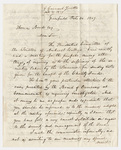 George Grennell letter to Thomas Bond, 1839 October 30