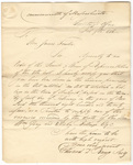 Edward Dillingham Bangs letter to James Fowler, 1826 February 9