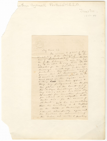 Jonathan Cogswell Perkins letter to unidentified recipient, 1851 December 17