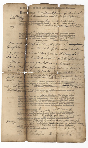 William F. Sellon deed to the Trustees of Amherst Academy, 1824 October 9