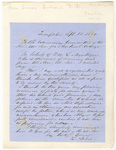 Lewis Sabin letter to the Examining Committee of the American Education Society, 1851 September 18