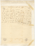 Experience Porter letter of recommendation regarding Henry Augustus Bridgman, 1818 December 5
