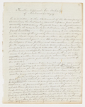 Joseph Vaill draft of form letter, 1843 December