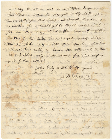 Bela Bates Edwards letter to Edward Hitchcock, 1851 September 22