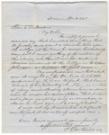 Joseph Vaill letter to Edward Dickinson, 1845 April 3