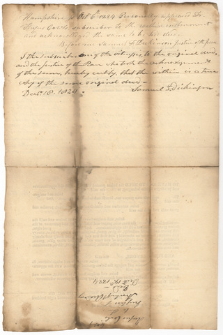 Copy of Rufus Cowls deed to the Trustees of Amherst Academy, 1824 October 6