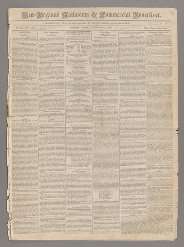 New-England palladium & commercial advertiser, 1825 February 11