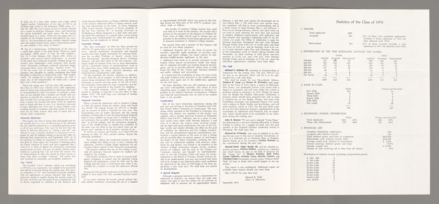 Amherst College annual report to secondary schools, 1972