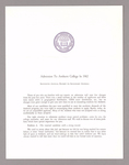 Amherst College annual report to secondary schools and report on admission to Amherst College, 1962
