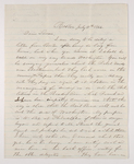 Sidney Brooks letter to Susan Brooks, 1864 July 11