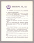 Amherst College annual report to secondary schools, 1970