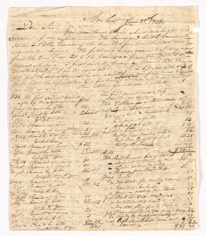 Sidney Brooks letter to Obed Brooks, 1838 June 28
