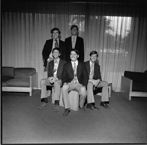 Photographs of Glee Club Quintet, 1972 June 6