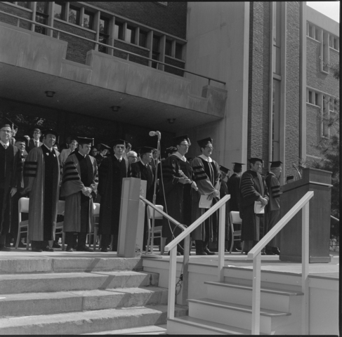 Photographs of the 151st Commencement ceremony, 1972 June 2