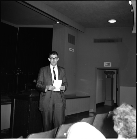 Photographs of 145th Commencement weekend events, related protest, and George Bain's retirement party, 1966 June