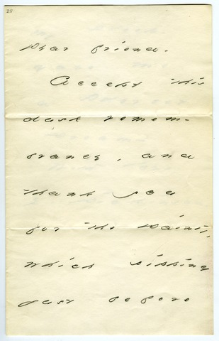 Emily Dickinson letter to Mrs. Richard Mather