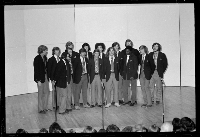 Photographs of the Zumbyes performing in Buckley Recital Hall, 1973 May