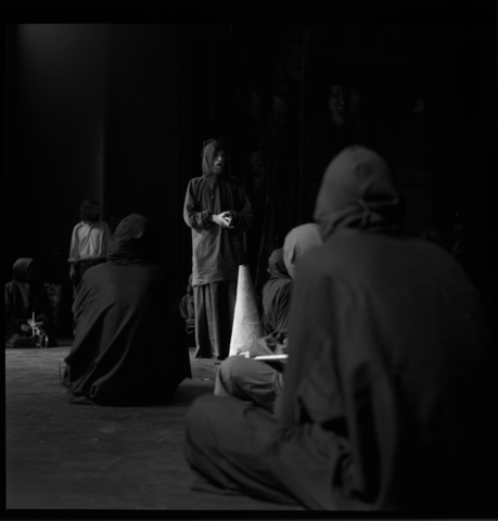 Photographs of That Simple Light May Rise Out of Complicated Darkness in Kirby Theater, 1973 January